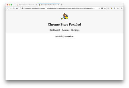 Chrome Store Foxified Uploading