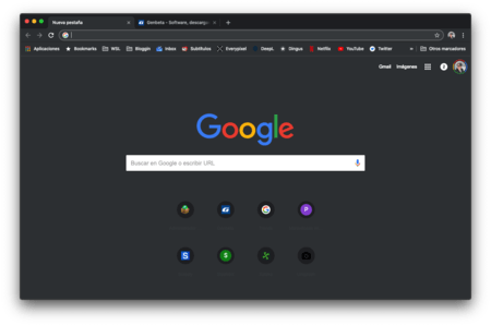 Tema Oscuro Chrome