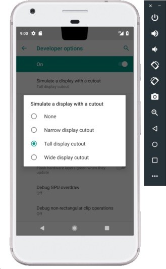 Nexus2cee Android® P Emulator Cutout 329x533