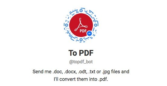 Telegram Contact Topdf Bot