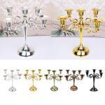 Antique Style Metal Pillar Candelabra Wedding Centerpiece 5 Candle Holders Ebay