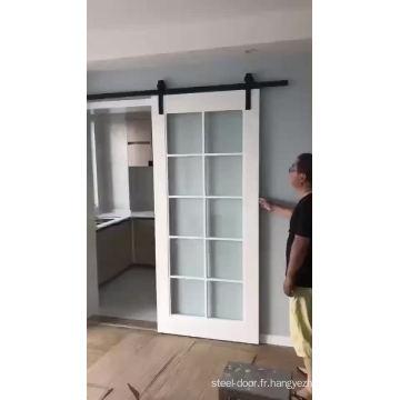 chine fabrique en porte de grange en verre coulissante en bois de chine fabricants