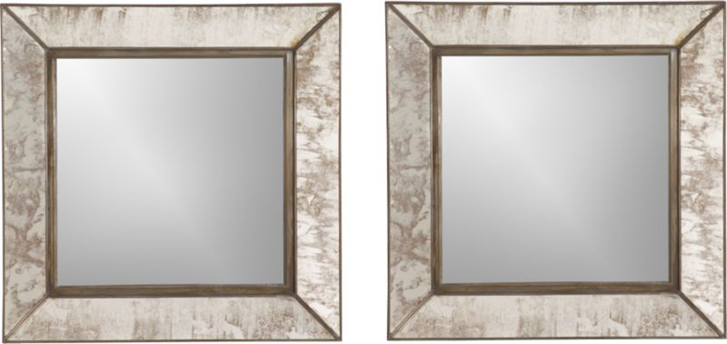 Set Of 2 Dubois Wall Mirrors Crate And Barrel