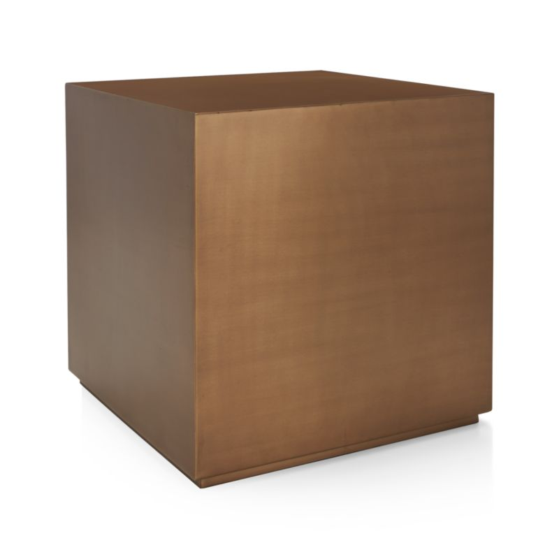 Patina Brass Cube Crate And Barrel