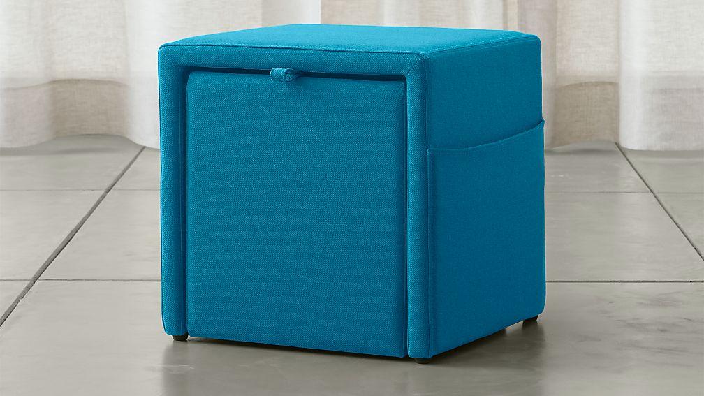 Stash Aqua Storage Ottoman In Ottomans Amp Cubes Crate And Barrel