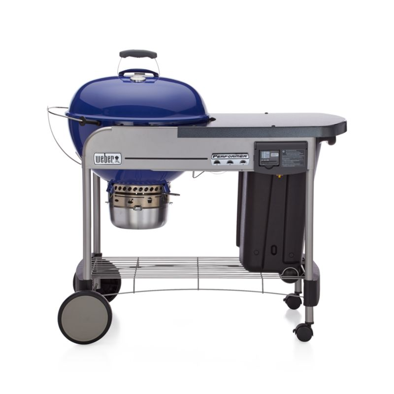 Weber Blue Performer Deluxe Charcoal Grill Crate And