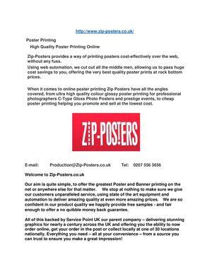 calameo cheap poster printing