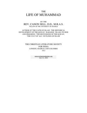 the life of muhammad