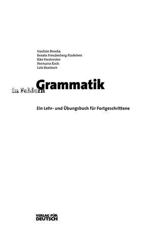 Calameo Grammatik In Feldern