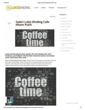 Calameo Galeri Lukis Dinding Cafe Hitam Putih
