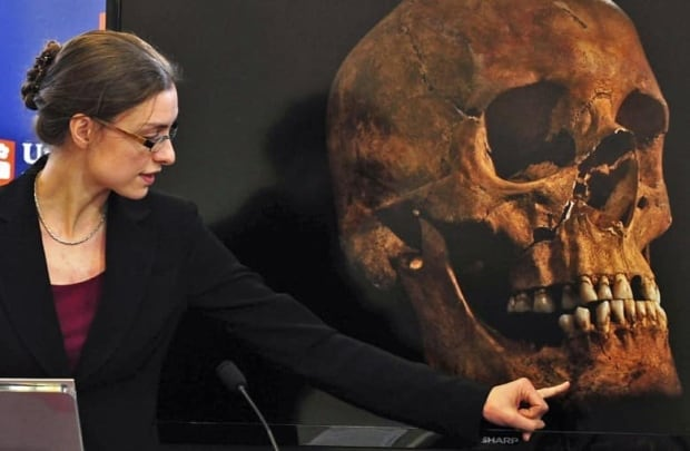Jo Appleby, a lecturer in human bioarcheology at the University of Leicester's school of archeology and ancient history, says that tests have established that skeletal remains are 'beyond reasonable doubt' those of King Richard III, missing for more than 500 years.