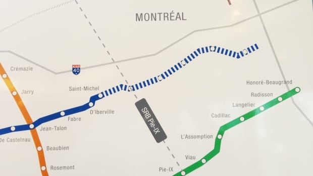 The blue line extension will go through St-Leonard, to Anjou.