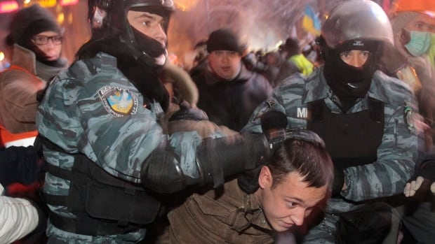 Security forces and protesters have been clashing in Kiev, Ukraine in a weeks-long standoff threatening the leadership of President Viktor Yanukovych.