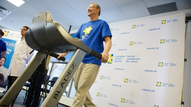Lyle Southam, 62, enrolled in the CHALLENGE study in 2013 after completing treatment for colon cancer. The Candian-led study aims to enrol 1,000 colon cancer survivors to determine if exercise can prevent cancer recurrence and boost survival rate.