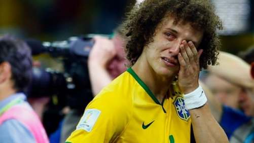 Rough day in the office for David Luiz (Image: CBC)