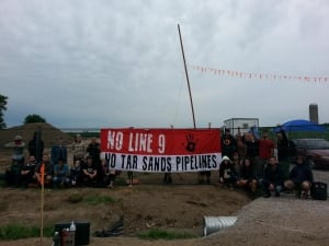 line 9 protest no tar sands pipelines