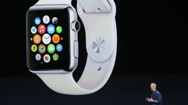 Apple CEO Tim Cook introduces the new Apple Watch, a wearable device that marks the company's first major entry into a new product category since the iPad's debut in 2010.