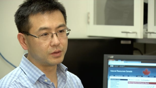 Jeff Gu, a seismologist at the University of Alberta, is one of the authors of a study in the Journal of Geophysical Research that looked at four years of earthquake data around Rocky Mountain House.