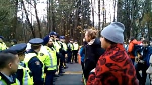 Kinder Morgan protesters