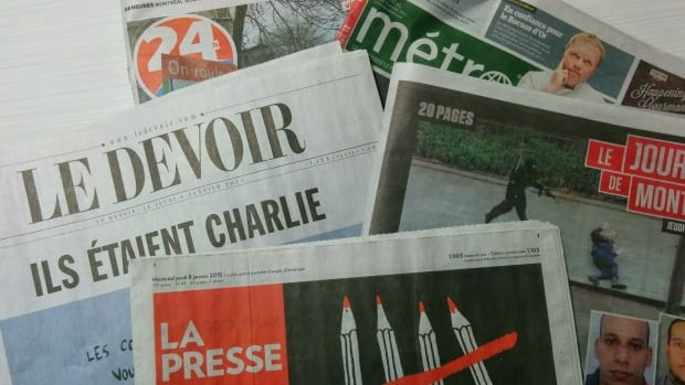 Quebec French-language newspapers decided to run a cartoon of the Prophet Muhammad in solidarity with Charlie Hebdo.