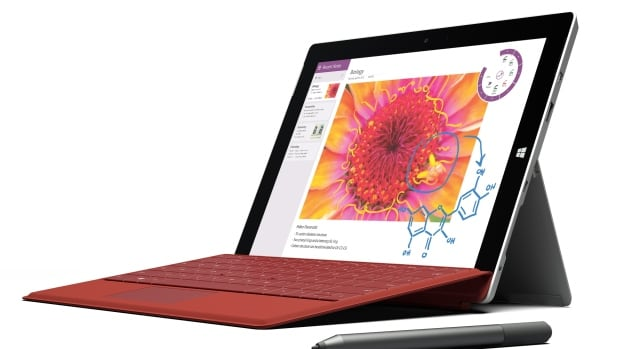 This product image provided by Microsoft shows the company's new Surface 3 tablet. Microsoft is making the cheaper version of its Surface Pro 3 tablet computer in an effort to reach more people.