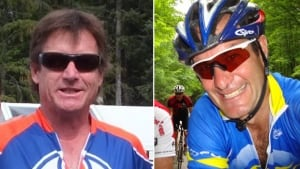 Whistler cyclists Kelly Blunden, Ross Chafe