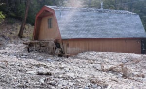 Last August, Ron Philbrook's vacation home on Pavilion Lake was hit by a mudslide
