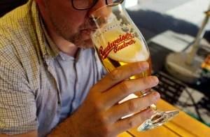 Man drinks beer
