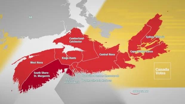 Nova Scotia riding results