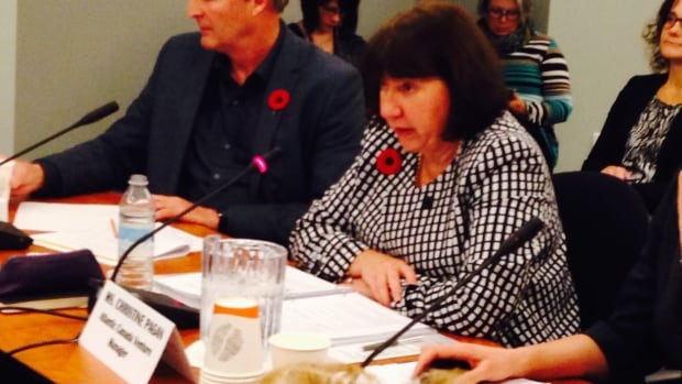 Christine Pagan, Shell Canada's Atlantic venture manager, appears at Thursday's Legislature's Resources Committee on capping offshore exploratory wells.