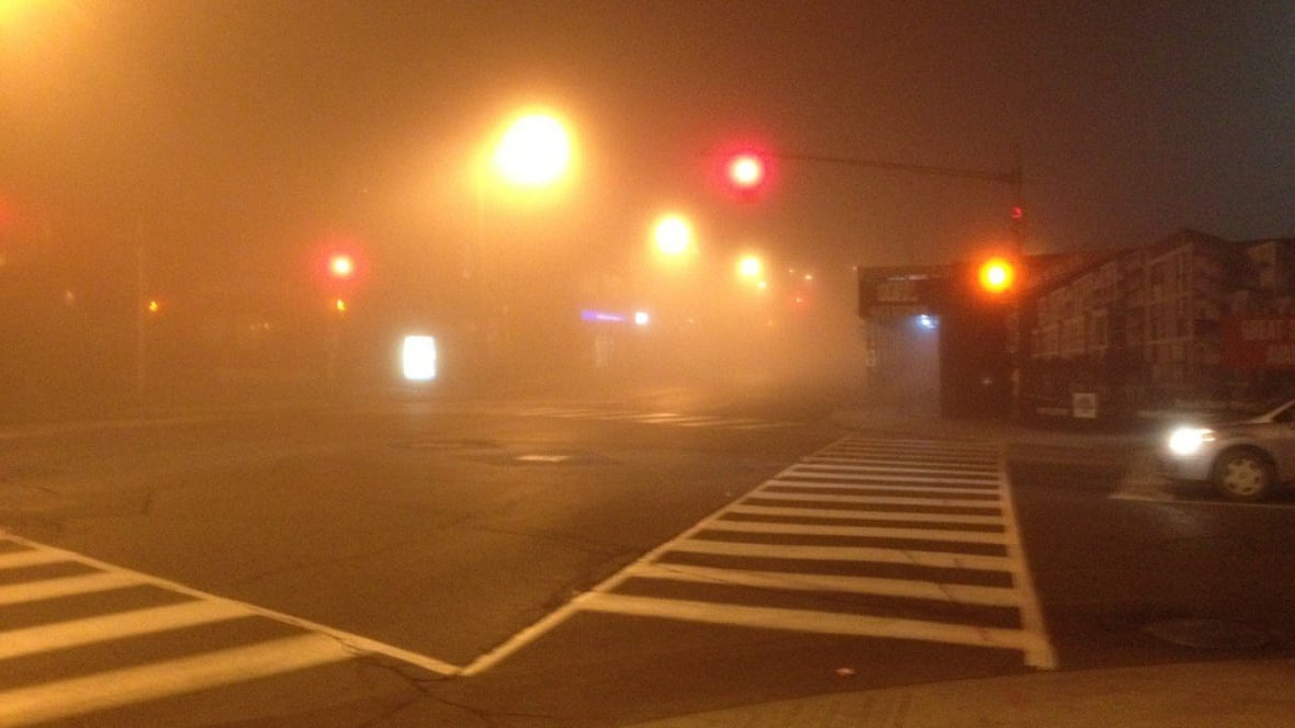 Image result for Foggy city streets of kamloops