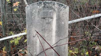 Most of the graves in the Wheary graveyard are more than 100 years old.