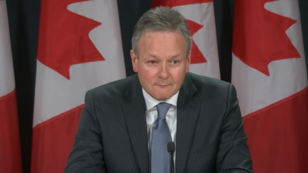 Bank of Canada governor Stephen Poloz told a news conference on Tuesday that the bank is watching a small group of Canadian households that are highly indebted.