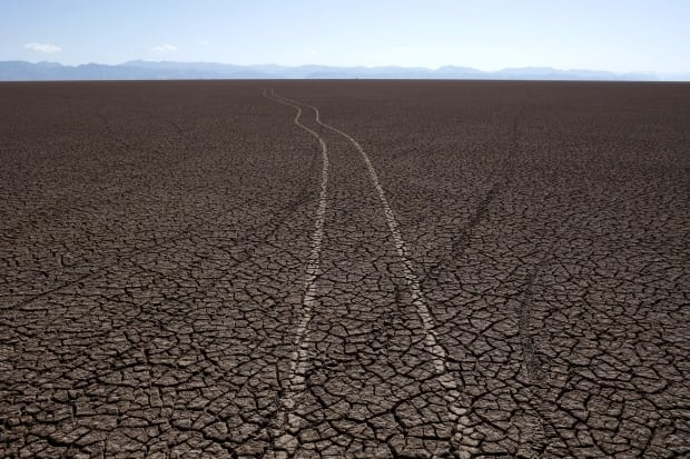 Lake Poopo Bolivia all dried up Dec 17 2015