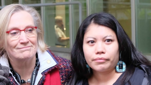 Lorelei Williams and Indigenous Affairs Minister Carolyn Bennett meet for the first time in Vancouver.