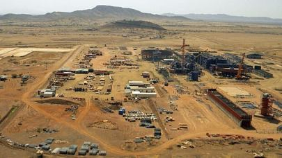 Nevsun Resources' gold and copper mine in the Bisha mining district in northern Eritrea, adjacent to Sudan.