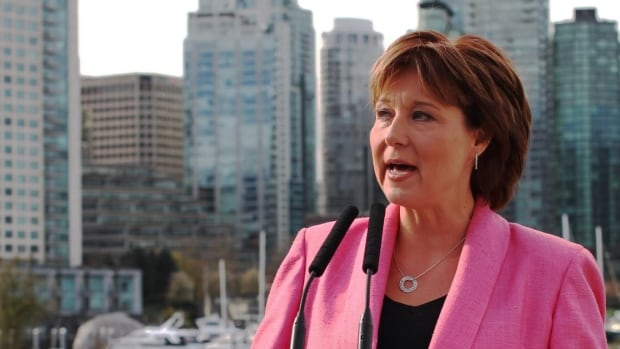B.C. Premier Christy Clark promised to crack down on the real estate practice of 'shadow flipping,' at a Friday morning announcement in Vancouver's Stanley Park.