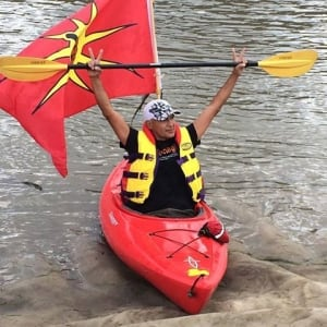 Keith LaRiviere at Paddle for the Peace protest