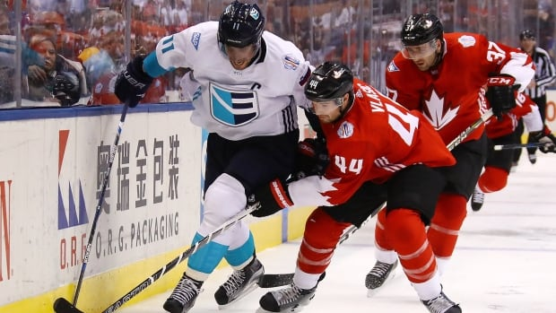 Canada earned a 3-1 win over Team Europe in the opener of the World Cup of Hockey final on Tuesday night, but the underdogs controlled play for long stretches in an admirable performance.