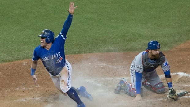 The Toronto Blue Jays defeated the Texas Rangers 7-6 on Sunday night, sweeping the series 3-0 and advancing to the ALCS.