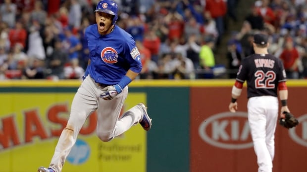 Addison Russell hit a grand slam and drove in a record-tying six runs, leading the Chicago Cubs over the Cleveland Indians 9-3 Tuesday night and forcing the World Series to a deciding Game 7.