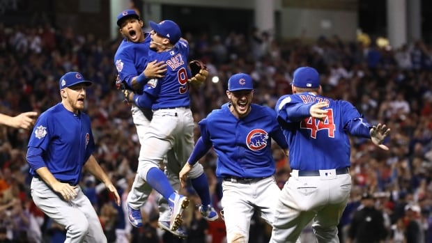 The Chicago Cubs won their first World Series championship since 1908 when Ben Zobrist hit a go-ahead double in the 10th inning, beating the Cleveland Indians 8-7 in a thrilling Game 7.