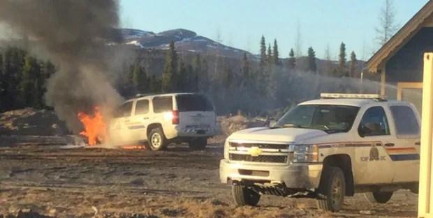 RCMP vehicle fire Natuashish