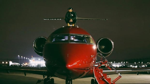 Race car driver Lewis Hamilton posted this picture of himself atop his jet to Facebook on Dec. 31, 2016. Leaked documents show he was advised to touch down on the Isle of Man on his inaugural flight to avoid paying tax on the $27 million US jet and later received a VAT refund of more than $5 million US.