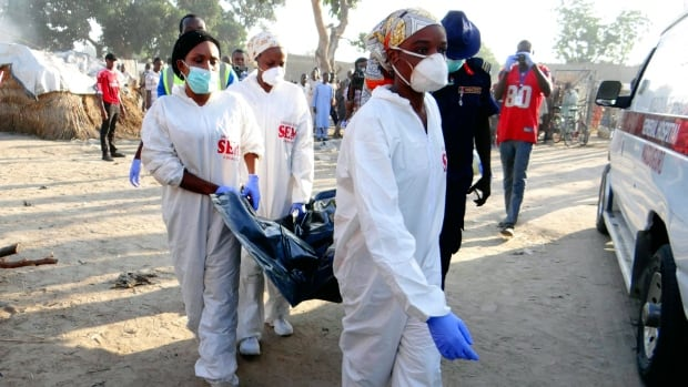 Image result for Four attackers kill selves, one other person in Maiduguri