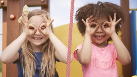 Two children mixed races