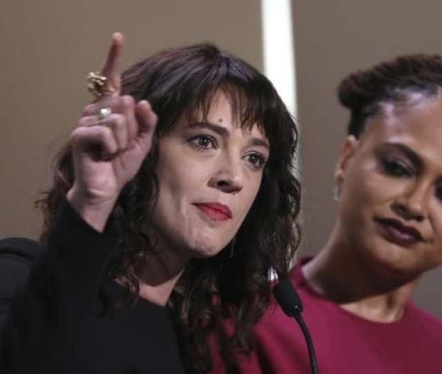 After Being Introduced To The Stage By Cannes Film Festival Juror Ava Duvernay At Right Actor Asia Argento Spoke Out Against Harvey Weinstein At This