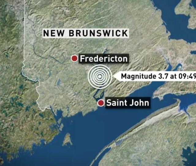 Earthquakes Canada Confirmed The Quake Thursday Morning Hit An Area 17 Km Northwest Of Hampton N B Cbc
