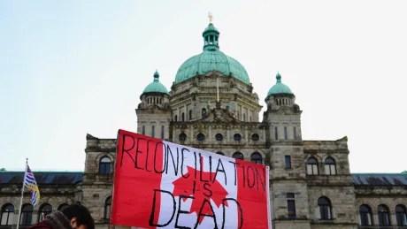 Wet'suwet'en solidarity demonstration at BC legislature