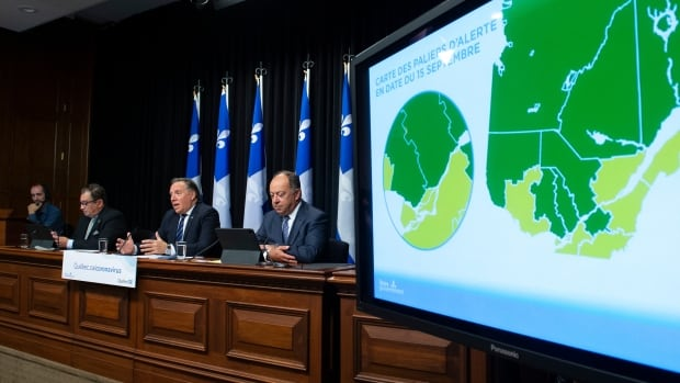 Legault calls situation 'critical' as Quebec increases alert level in 4 regions | CBC News